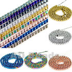 """Natural Hematite Rounded Cube Silver Gold Multi-color Beads 16"""" 2mm 3mm 4mm"""