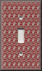 Metal Light Switch Plate Cover Dark Red Paisley Pattern Boho Home Decor Red