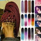 black red purple hair - Senegalese Twist Crochet Synthetic Braids Hair Extensions Blue Dipdye Ombre syk8