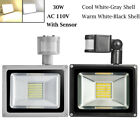 30W 50W 100W PIR Motion Sensor LED Flood Light Outdoor Security Waterproof Lamp
