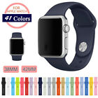 38/42mm Silicone Bracelet Band Strap For Apple Watch iWatch Sports Series 1/2/3 image
