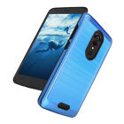 For T-Mobile REVVL Plus Brushed Armor Hard Phone Case Cover Clear Tempered Glass