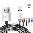 UK Fast 360° Charging Cable Magnetic Charger Connector Micro USB For Sumsung Lot