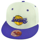 NBA Mitchell Ness Los Angeles Lakers TS55 Flannel 2 Tone Fitted Hat Cap on Ebay