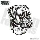 Boxer Dog Decal Pet Kennel Dogs Adopt Rescue Car Vinyl Sticker (RH) EMV