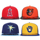 New Era 59Fifty Orioles LA Angels Rays Brewers MLB Fitted Baseball Cap on Ebay