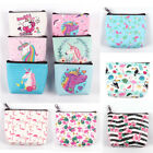 Women  Flamingo Unicorn Cute Mini Coin Purse Wallet Card Holder Earphone Bags image