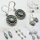 Choose Style ! 925 PURE Silver LABRADORITE Earrings Variation Mother's Day Deals