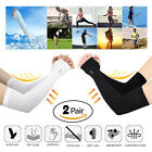 2 Pairs PREMIUM UV Protection Arm Cooling Sun Compression Sleeves For Men Women