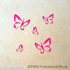 5 Butterfly Schmetterlinge im Set - Schmetterling Set S Wandtattoo Aufkleber