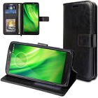 TECHGEAR Flip Slim Leather Wallet Case Cover inc Stand For Motorola Moto G6 Plus