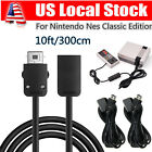 3M / 10FT Extension Cable Cord For Nintendo NES Mini Classic Edition Controller