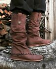 Black Legolas Elf Lord of the Rings Cosplay Mens Costume Long Boots Sizes 8-14