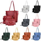 4Pcs/Set Women's Lady Leather Handbag Shoulder Tote Purse Satchel Messenger Bags