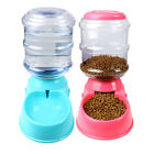 US Automatic Pet Food Drink Dispenser Dog Cat Feeder Water Bowl High Capacity
