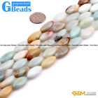 "10x20mm Natural Multi-Color Amazonite Gemstone Marquise Loose Beads Strand 15""GB"