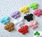 "100 pc x 1"" Mixed Padded Felt Butterfly with Antenna Appliques for bows ST473"