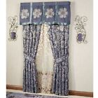 Milana Floral Tailored Curtain Pair Slate 84 x 84 image