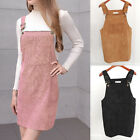 2018 Fashion Women Skirts Casual Corduroy Suspender Overall Vest Jumpsuit Skirt