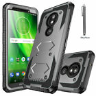 For Motorola Moto G6 Play / G6 Forge Phone Case+Tempered Glass Screen Protectors
