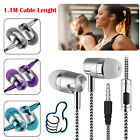 Metal Stereo Headphone Bass Earphone Sport Headset Earbuds for Phone Samsung LG