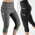 afc9aef8afa3df Lady's High Waist Capri Cropped Leggings Yoga Pants Fitness Workout Wear  for Gym