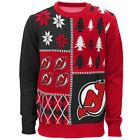 NEW NHL Youth New Jersey Devils Christmas Winter Holiday Ugly Sweater Red Black $16.99 USD on eBay