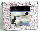 Cuddl Duds Heavy Weight 100% Cotton FLANNEL Sheet Set - Pink Kitty Cats 🌟NEW🌟 image