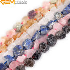 Natural Assorted Stones Freeform Crude Raw Beads For Jewelry Making Strand 15""