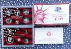 1999 S U.S. Mint Silver Proof Set with Box & COA, 9 Proof Coins, Delaware