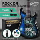 ALPHA Electric Guitar Music String Instrument Rock Black Amplifier Guitar Bag