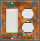 Light Switch Plate Cover Image Of Aged Copper Design Patina Rustic Home Decor 07