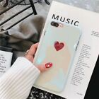 Slim Fit Case Cute Reflective Protective Phone Covers For iPhone XS X 8 7 Plus