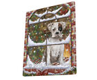 Please Come Home For Christmas Boxer Dog Sitting In Window Blanket BLNKT53814
