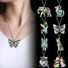 Fashion Paint Animal Dragon Butterfly Dog Cat Pendant Necklace Women Jewelry New