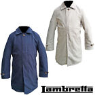 Lambretta Mac Coat Trench Button Up Mens Smart Collar Shower Resistant UK S-4XL