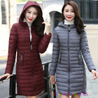 Winter Ladies Puffer Hooded Long Warm Padded Outwear Coats Down Cotton Jacket, used for sale  Shipping to Ireland