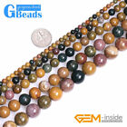 Natural Mixed Color Gemstone Rainbow Ocean Jasper Jewelry Making Beads 15""
