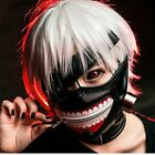 Halloween Cosplay Tokyo Ghoul Kaneki Ken Adjustable Zipper Belt Mask Cosplay Wig