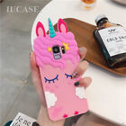 Pink Girly Cute Unicorn Case Protective Phone Cover For Galaxy S8 9 / Plus Note