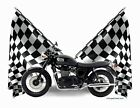 Custom TShirt Checkered Flag 2014 Triumph Bonneville T100 Black (Checkered 0255) $19.99 USD on eBay