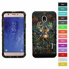 For Samsung Galaxy J7 Star Deer Hunting Camo Hybrid Armor Protective Case Cover