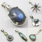 925 STAMP Silver Real LABRADORITE Gemset FASHION Pendant ! Online Jewelry Store