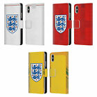 ENGLAND FOOTBALL TEAM 2018/19 CREST KIT LEATHER BOOK CASE FOR APPLE iPHONE