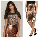 BAR III  SEXY SEQUIN PARTY COCKTAIL EVENING PENCIL SKIRT Sz XS S  M  L  XL  NWT