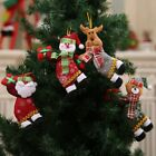 Christmas Tree Hanging Ornaments Wooden Non-woven Craft Pendants Xmas Decoration