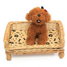 Hand Woven Wicker Pet Bed Cat Dog Basket Extra Cute Pillow Sleeping Cushion Pad