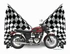 T-Shirt Checker Flag 2016 Triumph Bonneville T120 (Checkered 0538) $21.99 USD on eBay