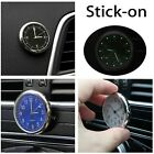 Pocket Small Mini Luminous Quartz Analog Watch Stick-On Clock for Car Boat Bike