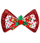 GLITTER CHRISTMAS BOW TIE Necktie Dicky Accessory Christmas Fancy Dress
